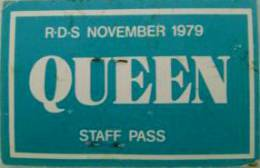 Dublin 22.11.1979 staff pass