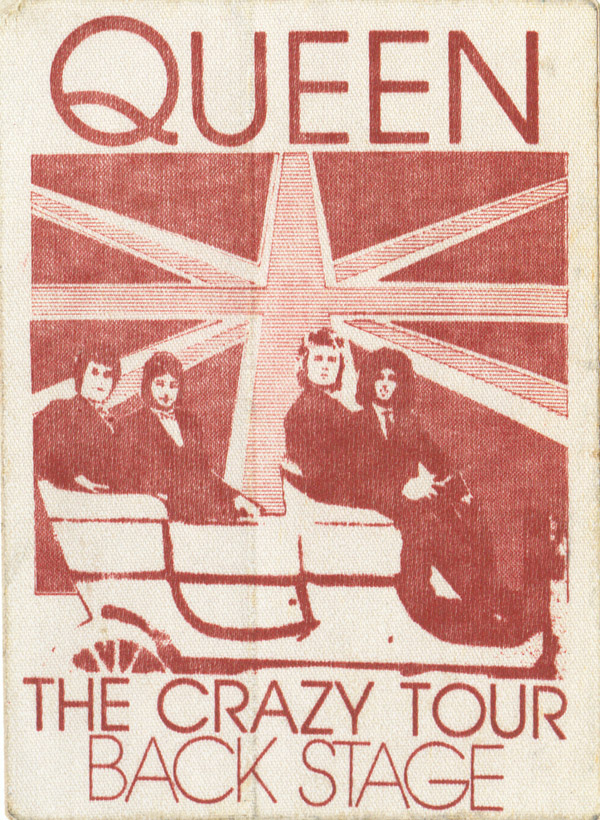 Crazy tour 1979 backstage pass