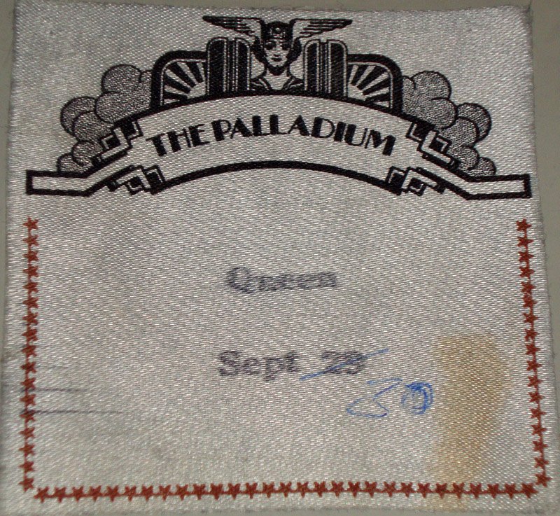 No idea about this one - I THINK it might be an afterparty pass from New York 30.9.1980 but it's just a guess