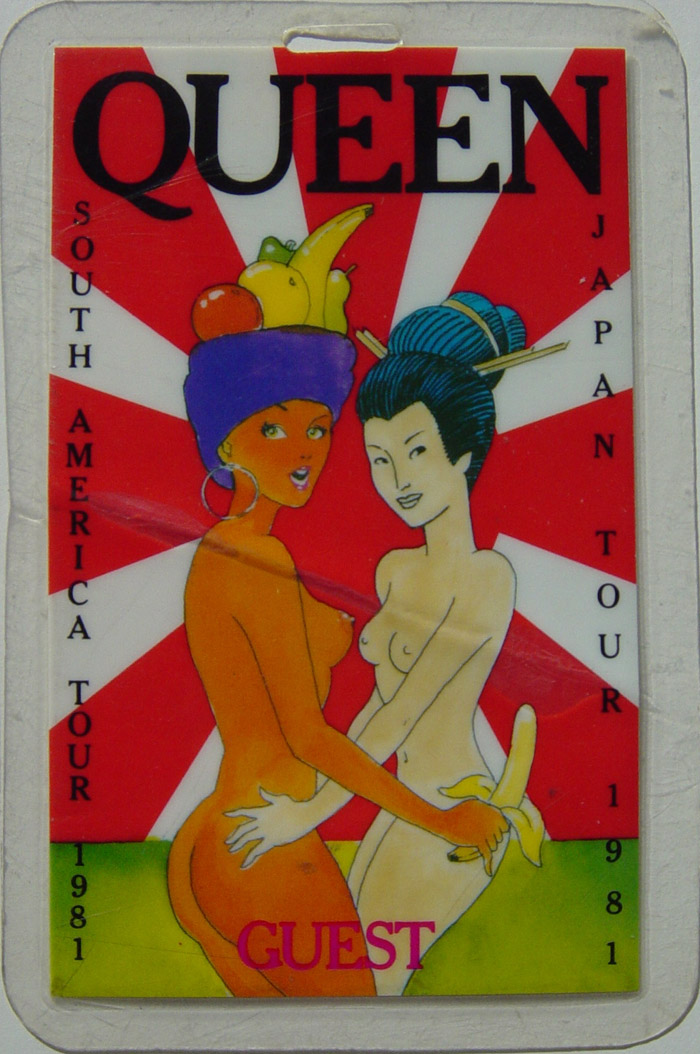 South American and Japanese tour 1981 - genuine laminated pass