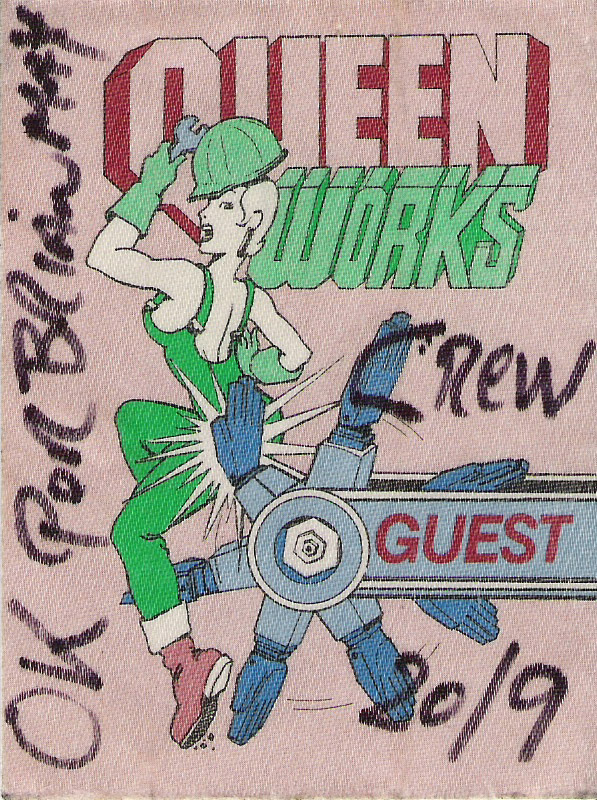 Leiden 20.9.1984 guest pass for Brian's friend [Queen]