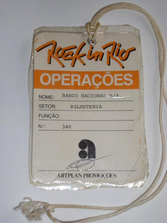 Rock In Rio - January 1985 pass