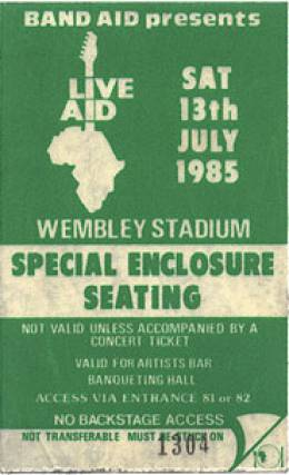 Live Aid pass