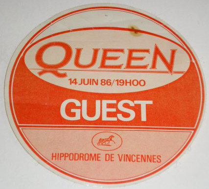 Paris 14.6.1986 guest pass