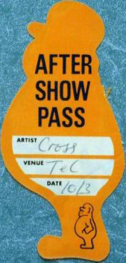 London 10.03.1988 aftershow pass