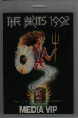 Brit Awards 1992 media pass