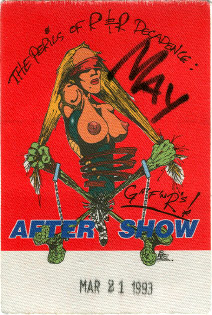 Fargo 21.03.1993 aftershow pass