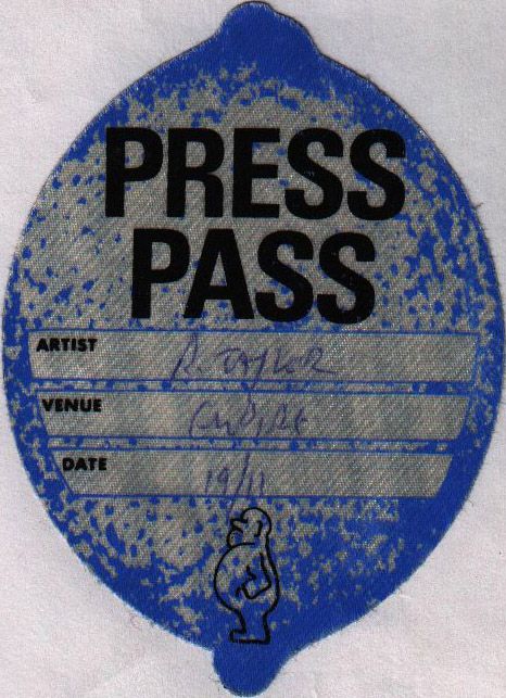 London 19.11.1994 press pass