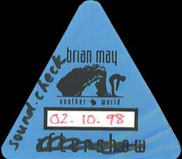 Berlin 2.10.1998 soundcheck pass