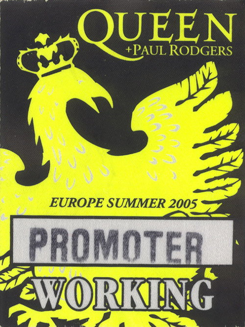 Cologne 6.7.2005 working pass