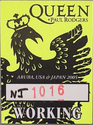 New Jersey 16.10.2005 working pass