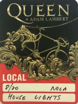 Local crew pass for the Q+AL gig in New Orleans on 20.08.2019