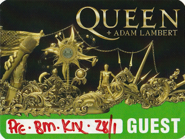 Guest pass for the Queen concert in Osaka on 28.01.2020