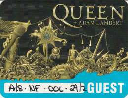 Guest pass for the Queen concert in Goldcoast on 29.02.2020