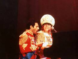 Guest appearance: Freddie Mercury live at the Apollo Theatre, Manchester, UK (with Elton John)