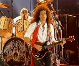 Guest appearance: Brian May + Roger Taylor + John Deacon live at the Wembley Stadium, London, UK (Freddie Mercury Tribute)