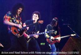 Guest appearance: Brian May live at the Wembley Arena, London, UK (with Extreme)