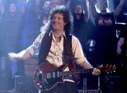 Guest appearance: Brian May + Roger Taylor live at the London, UK (Parkinson TV show (with Brian, Roger and the WWRY cast))