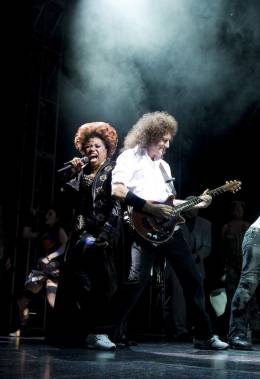 Concert photo: Brian May + Roger Taylor live at the Birmingham Hippodrome, Birmingham, UK (WWRY musical) [02.07.2009]