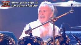 Guest appearance: Brian May + Roger Taylor live at the Fountain Studios, London, UK (The X Factor)