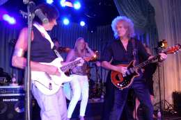 Guest appearance: Brian May + Roger Taylor live at the The Savoy, London, UK (Freddie For A Day - Freddie's 65th birthday party)