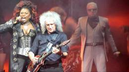 Concert photo: Brian May + Roger Taylor live at the Dominion Theatre, London, UK (WWRY musical (10th anniversary)) [14.05.2012]