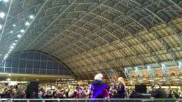 Concert photo: Brian May live at the St Pancras Railway Station, London, UK (Save The Tiger Fund) [01.03.2013]
