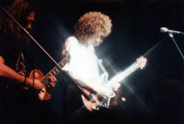 Concert photo: The Cross + Brian May live at the Astoria Theatre, London, UK (Fan club Xmas party with Brian) [07.12.1990]