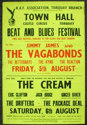 Poster - The Reaction in Torquay on 05.08.1966