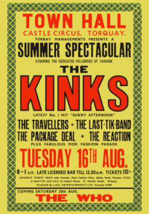 Poster - The Reaction in Torquay on 16.08.1966