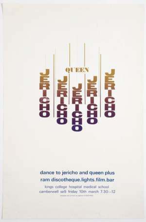 Poster - Jericho and Queen at the King's College Medical School in London on 10.03.1972