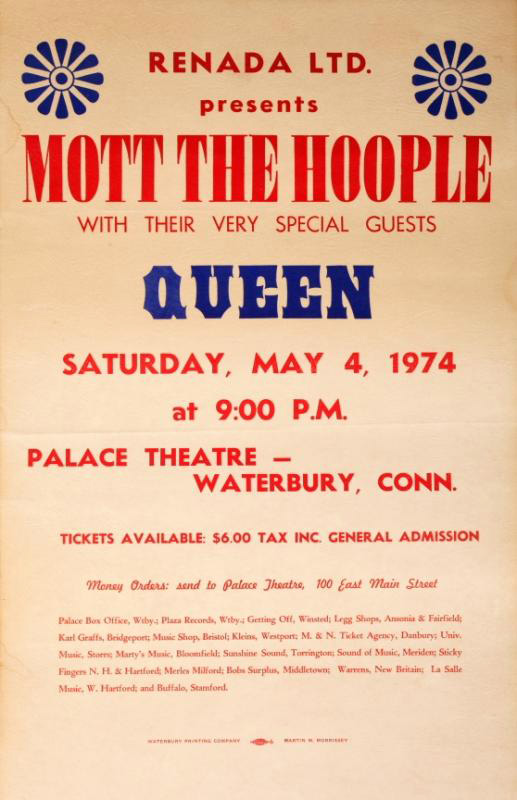 Queen in Waterbury on 04.05.1974