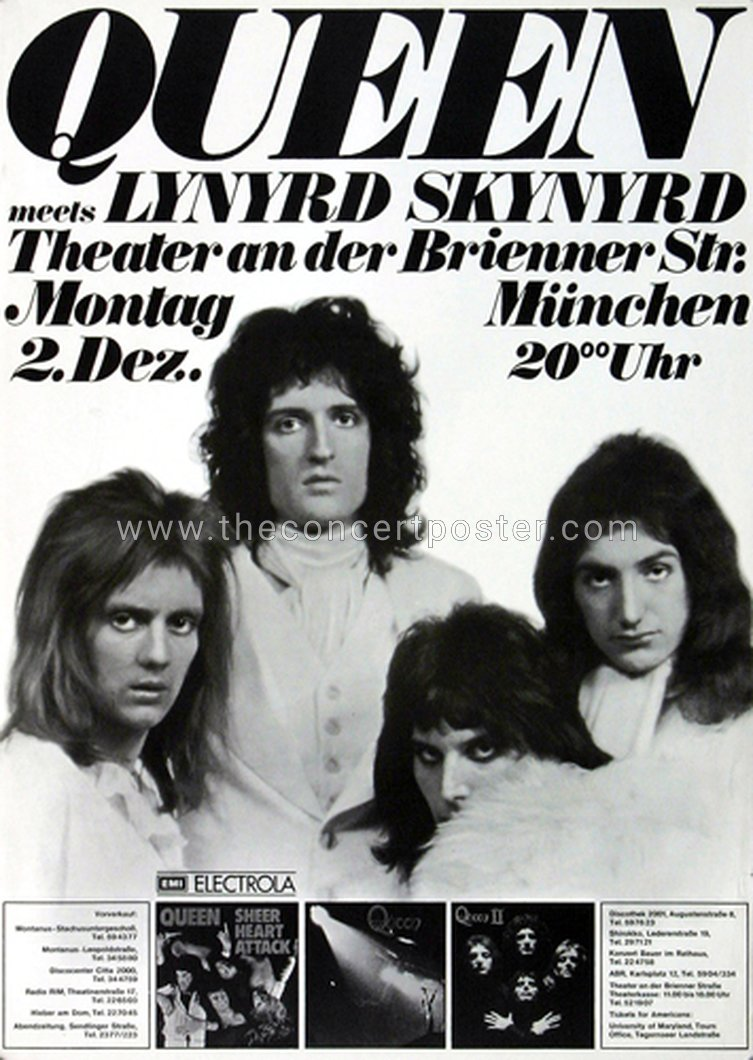 Queen in Munich on 02.12.1974