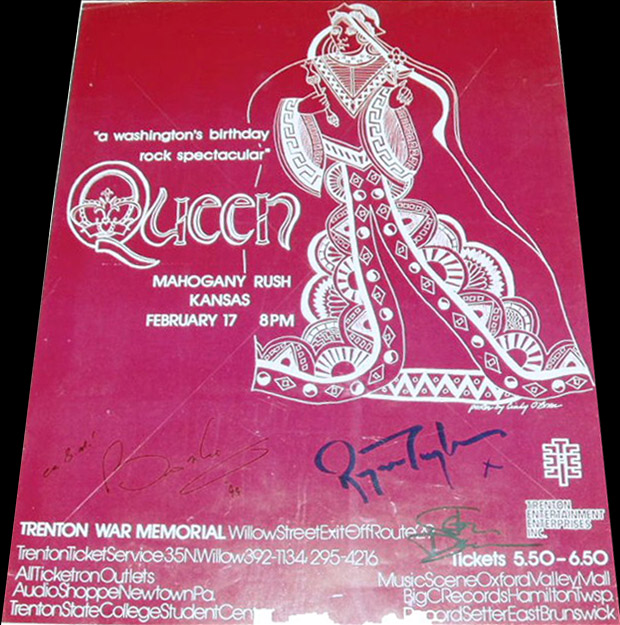 Queen in Trenton on 17.02.1975