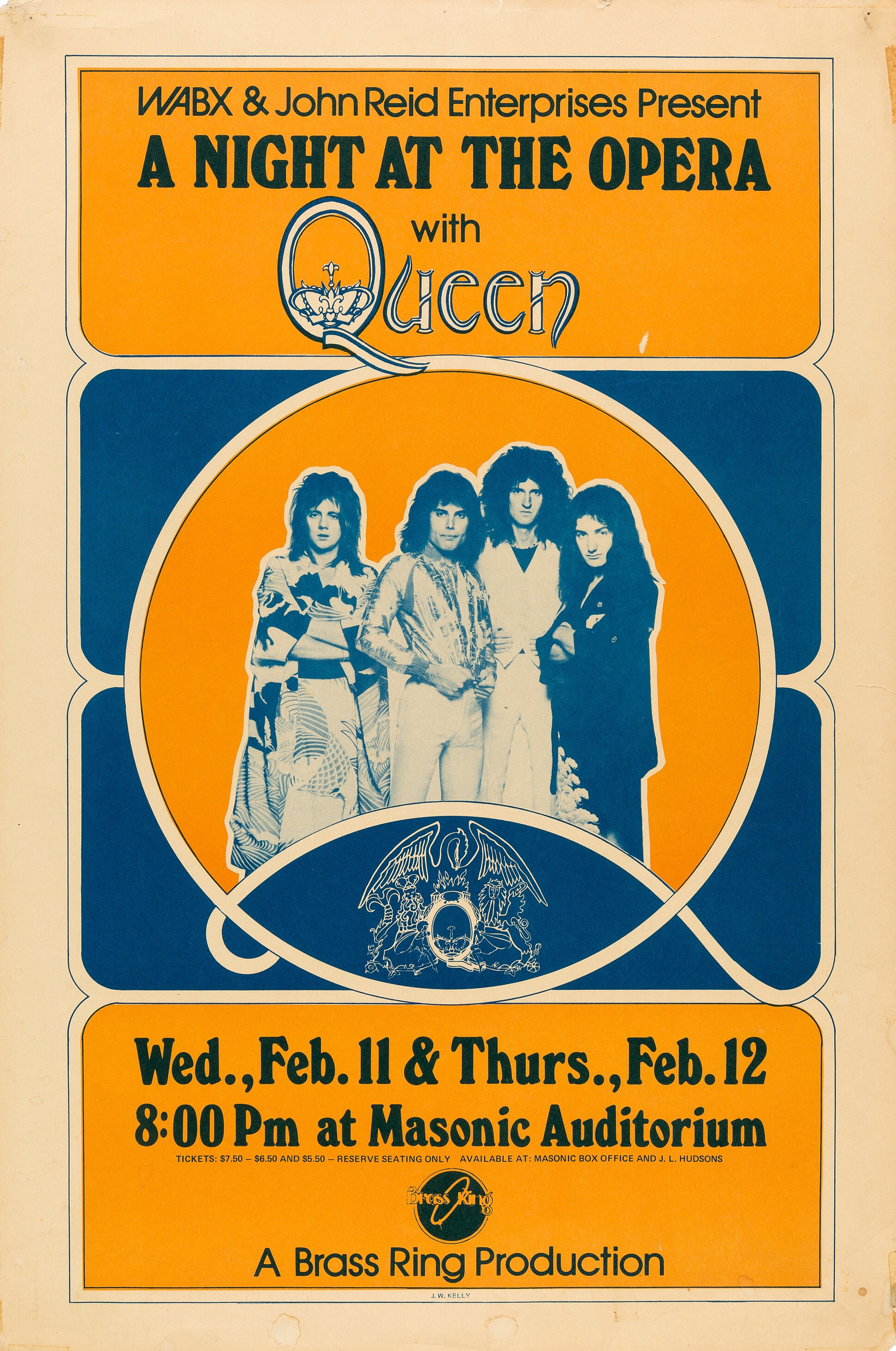 Queen in Detroit on 11.-12.02.1976