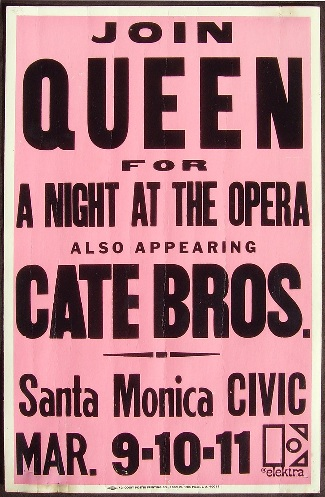 Queen in Santa Monica on 09.-12.03.1976