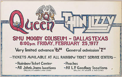 Queen in Dallas on 25.02.1977