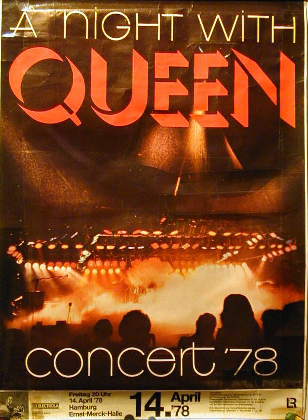 Queen in Hamburg on 14.04.1978