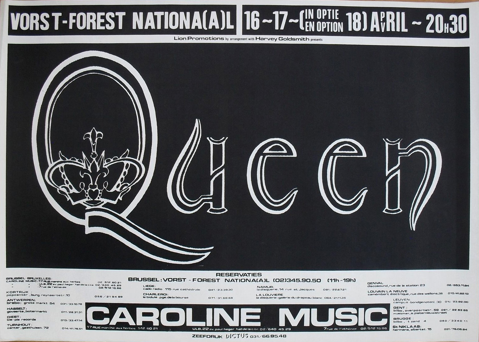 Queen in Brussels on 16.-17.04.1978