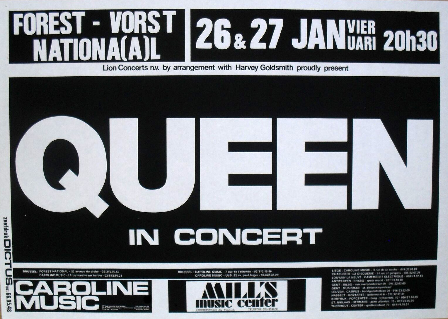Queen in Brussels on 26.-27.01.1979