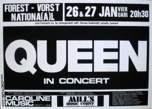 Poster - Queen in Brussels on 26.-27.01.1979