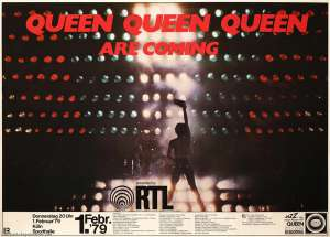 Poster - Queen in Cologne on 01.02.1979