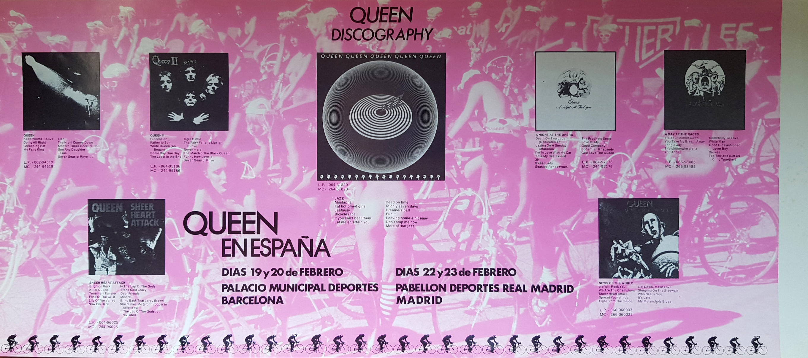 Queen in Barcelona and Madrid in February 1979