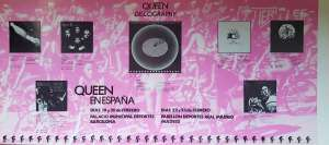 Poster - Queen in Barcelona and Madrid in February 1979
