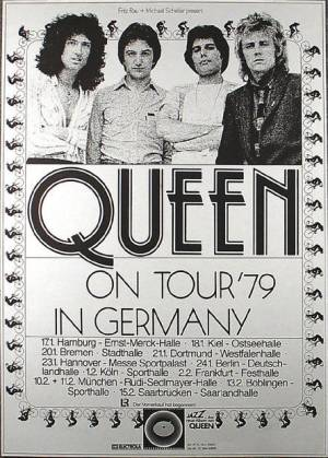 Poster - Queen in Germany 1979 (Live Killers tour)