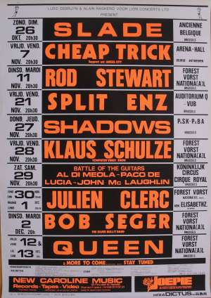 Poster - Queen in Brussels on 12.-13.12.1980