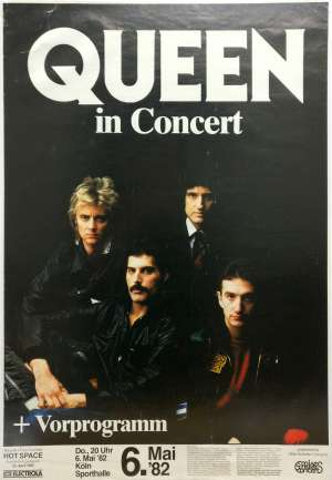Poster - Queen in Cologne on 06.05.1982