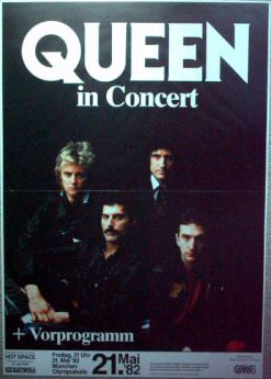 Queen in Munich on 21.05.1982