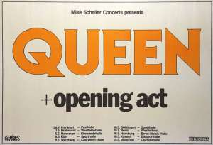 Poster - Queen in Germany in 1982
