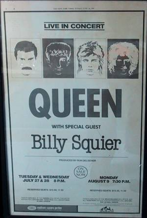 Poster - Queen in New York on 27.07.1982